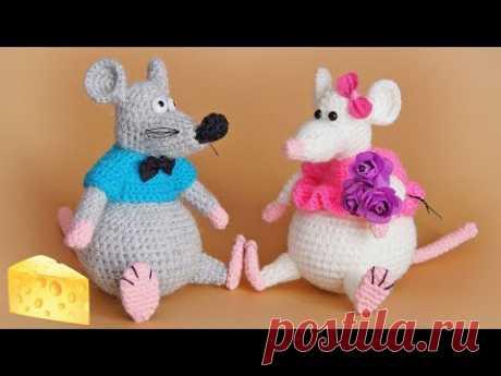 МК вязаная крючком игрушка Крыс 1 ЧАСТЬ | Мышки вязаные крючком | Crochet rat  toy