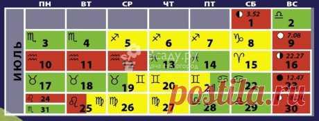 Лунный посевной календарь садовода: таблица благоприятных дней, июль Актуальный лунный посевной календарь на 2017 год таблица: благоприятные дни июля, когда проводить посевы в июле, какие знаки зодиака благоприятны для посевов