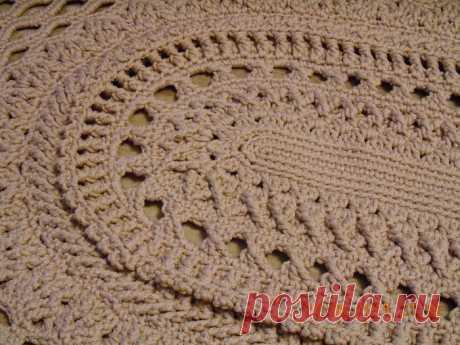 Овальный коврик *Майское чудо* крючком - Crochet - Modnoe Vyazanie
