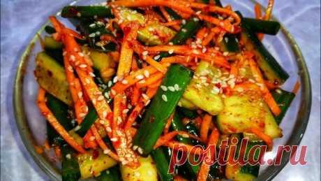 Соседка Кореянка научила меня готовить этот Салат. Невероятные Огурцы