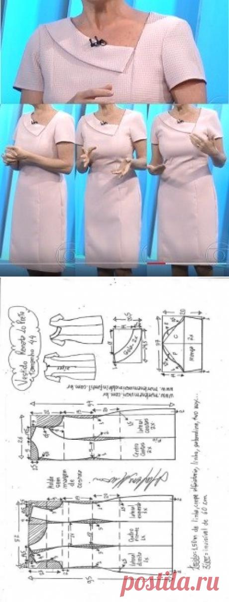 Vestido Tubinho Renata Lo Prete - DIY - molde, corte e costura - Marlene Mukai