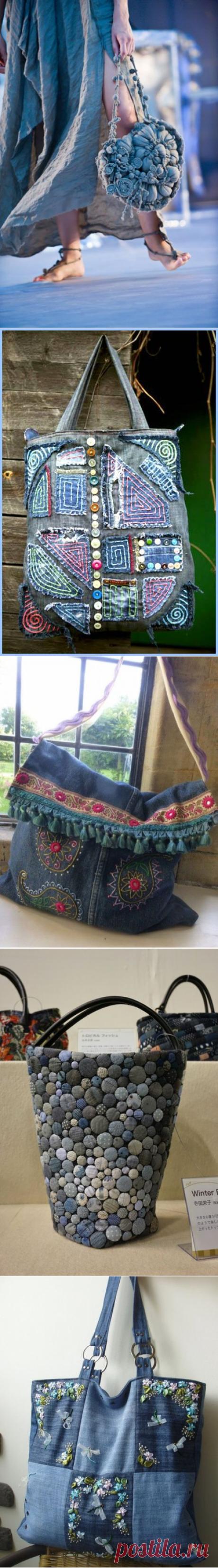 ¡Mi estilo - BOHO! Cosemos, tejemos, bordamos, creamos. Las ideas brillantes jeans para las bolsas