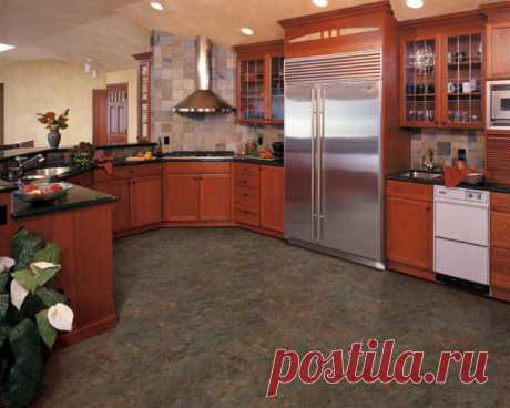 Плитка для кухни на пол: 7 видов   Obustroeno.Com