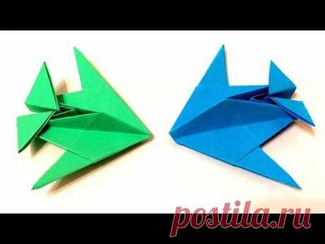 Как сделать самолет из бумаги: Истребитель оригами