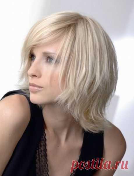 Лесенка на средние волосы (38 фото) с рваной челкой: видео-инструкция как сделать прическу своими руками, фото и цена