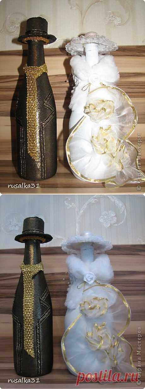 Свадебные бутылочки | Золотые Руки