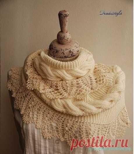 Красивое вязание | Оригинальный снуд
