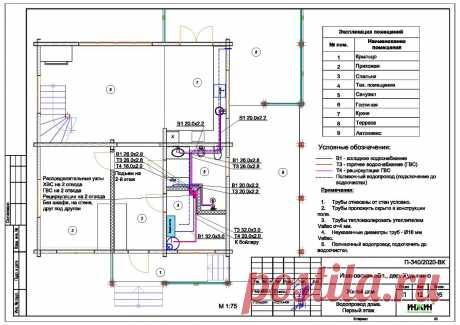 Проект отопления частного дома, пример 1444