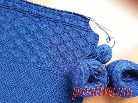 (46) Пуловер (свитер) спицами для мужчин. Часть 2. Проймы. - YouTube