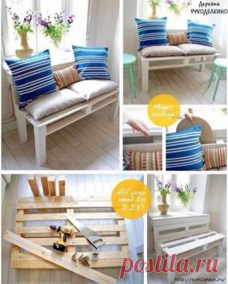 Уютный диванчик из деревянного поддона: мастер-класс