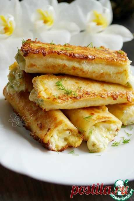 Трубочки из лаваша на завтрак – кулинарный рецепт