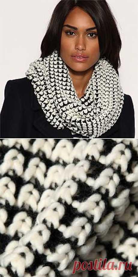 черно-белый шарф хомут