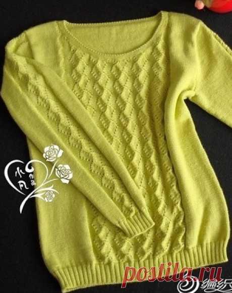 Красивый узор для вязания пуловера спицами. Узоры для свитера спицами | Я Хозяйка