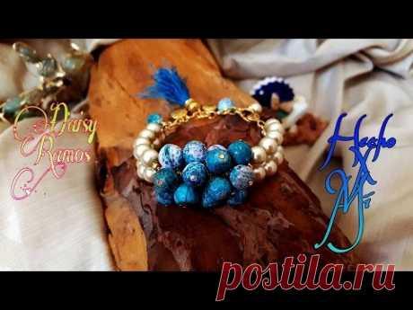 Pulsera de Agatas y Perlas DIY Pearls and Agates Bracelet