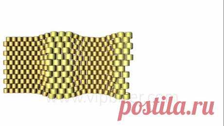 Мозаичное плетение и браслет из бисера Turtle