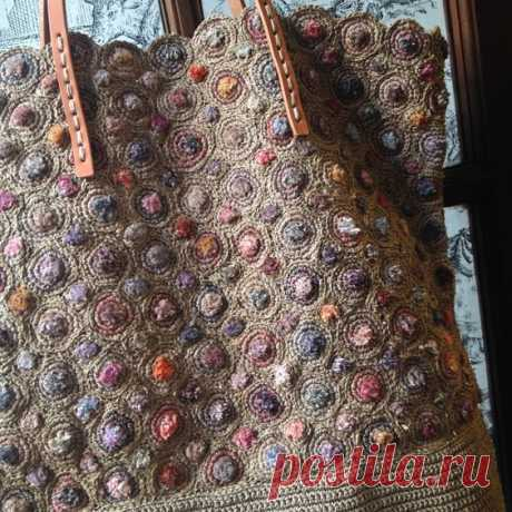 (36) SOPHIE DIGARD HANDBAG SDHB_03 . The textures created for this bag in taupe and muted colors is exceptional.....Its all about the right yarn (waxed …