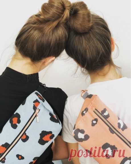 Выкройка плоской сумки на пояс Модная одежда и дизайн интерьера своими руками