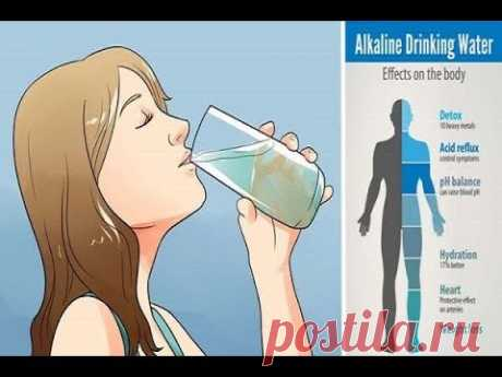 الماء القلوي يقضى على السرطان ..إليكم كيف تعدونه ..؟!! - YouTube