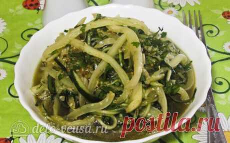 Летний салат по-корейски, пошаговый рецепт с фото