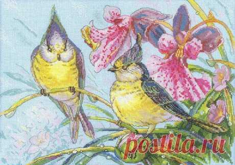 Вышивка «Дыхание весны»   Скачать схему бесплатно Скачать Вышивка «Дыхание весны» бесплатно. А также другие схемы вышивок в разделах: , RTO, Весна, Птицы, Цветы