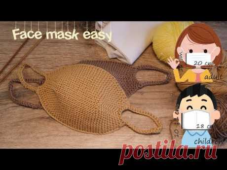 Маска для лица своими руками 😷 How to make a Face Mask (knitting pattern)