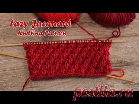 Ленивый жаккард спицами | Lazy Jacquard Knitting Pattern