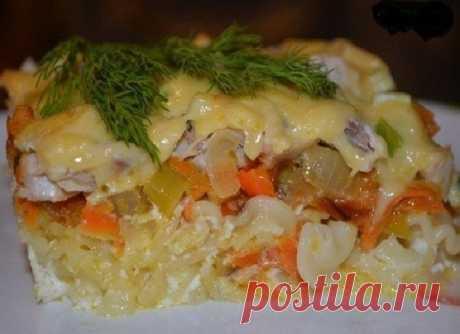 Шикарный ужин без заморочек — Запеканка из макарон с курицей