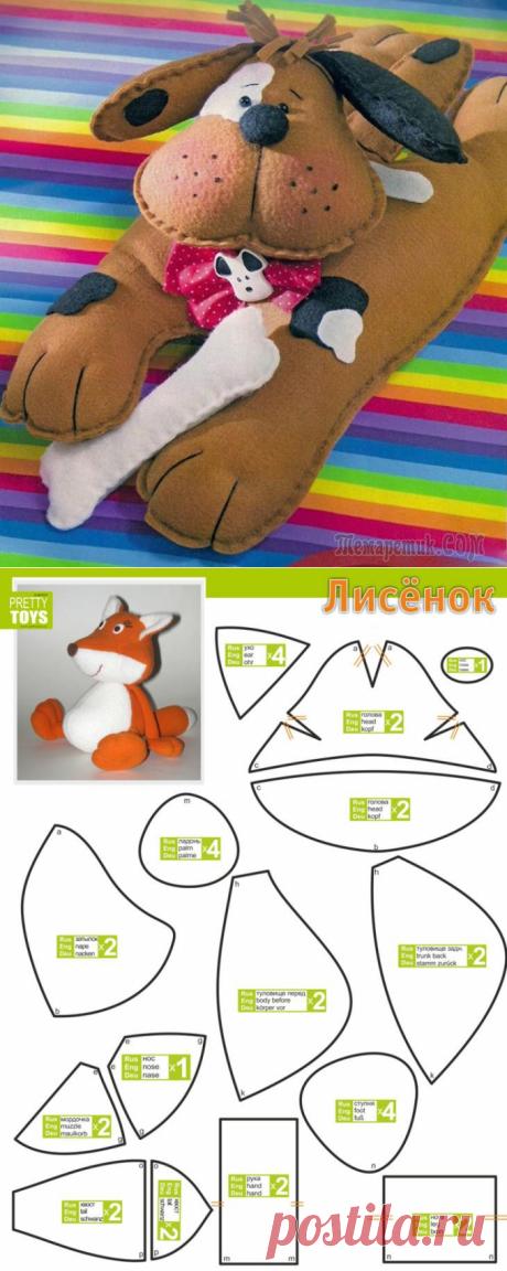 15 идей красивых мягких игрушек своими руками