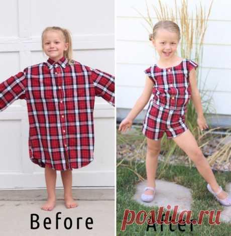 Восхитительные платья для детей из старых мужских рубашек (Шитье и крой) — Журнал Вдохновение Рукодельницы