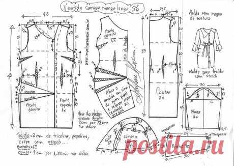 Необычный фасон для платья. Выкройки (Шитье и крой) – Журнал Вдохновение Рукодельницы