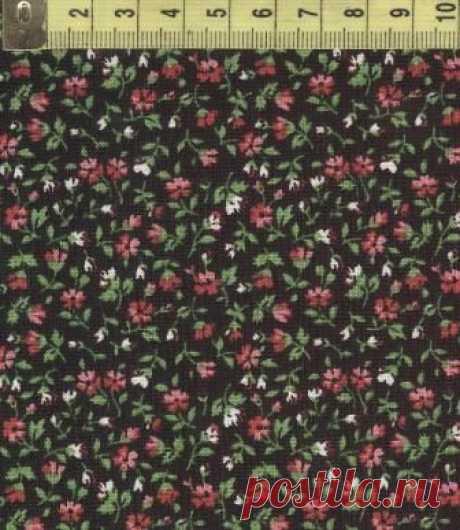 Розовые ромашки на черном поле W 32041-3