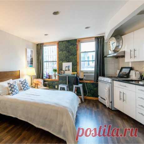 Квартира-студия: кухня, спальня и кабинет на 30 квадратных метрах | flqu.ru - квартирный вопрос. Блог о дизайне, ремонте