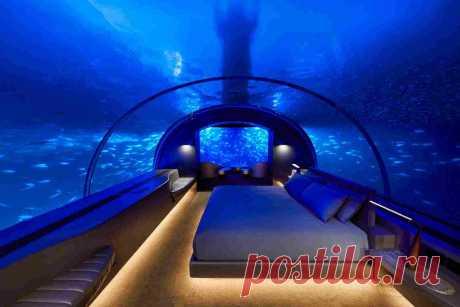 Первая в мире подводная вилла в отеле на Мальдивах — HQROOM