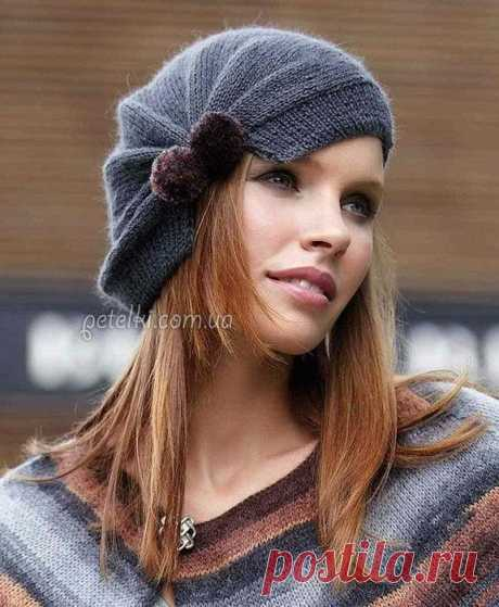 Интересная женская шапочка.