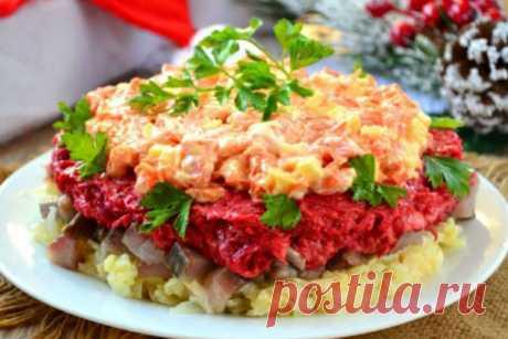 Салат Наваждение с селедкой  Именно принцип приготовления делает этот салат очень вкусным