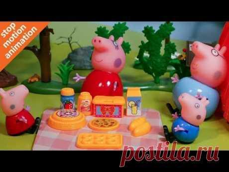 Свинка Пеппа 🐷 отдых на природе. Мультик из игрушек Peppa Pig на русском. - YouTube