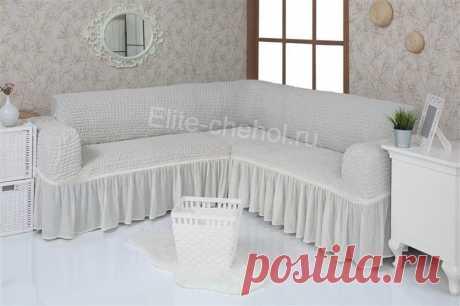 Чехол на угловой диван соборкой « Каталог