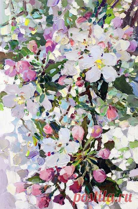 Яблоневый цвет. Этюд - Интернет-магазин - Холст/Масло - Художественная галерея в Санкт-Петербурге