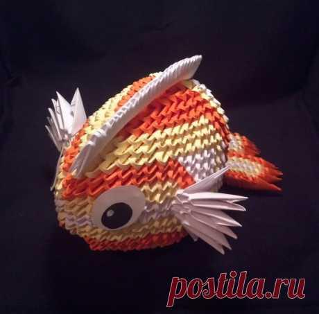 Мастер-класс по оригами «Рыбка» - изготовление элементов и сборка своими руками
