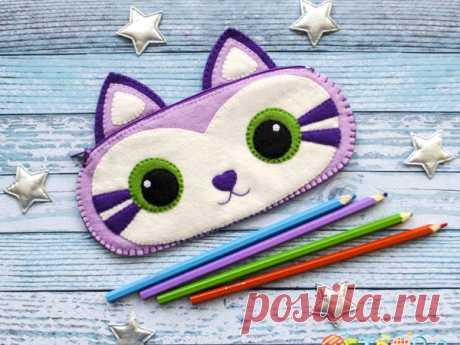 Мастер-класс смотреть онлайн: Шьём из фетра пенал «Котик» | Журнал Ярмарки Мастеров