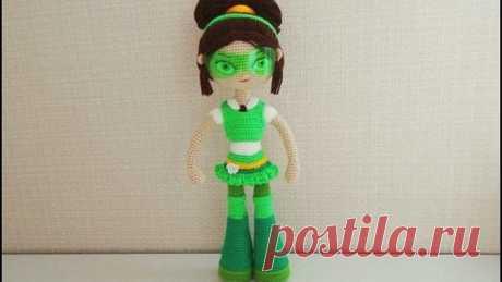 Игрушка амигуруми. Кукла Маша. Мастер-класс крючком. (Сrochet doll)