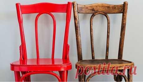 Как идеально перекрасить старый лакированный стул своими руками — 5 важных нюансов!   ДОМ ЯРКИХ ИДЕЙ   Яндекс Дзен