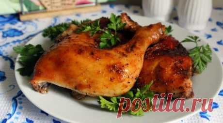 Куриные окорочка в абрикосовой глазури — Sloosh – кулинарные рецепты