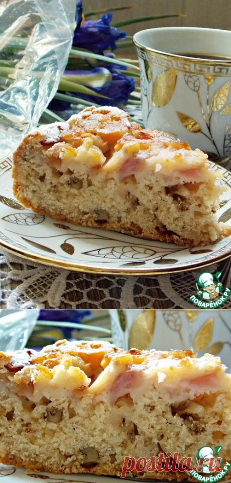 Постная шарлотка с яблоками - кулинарный рецепт
