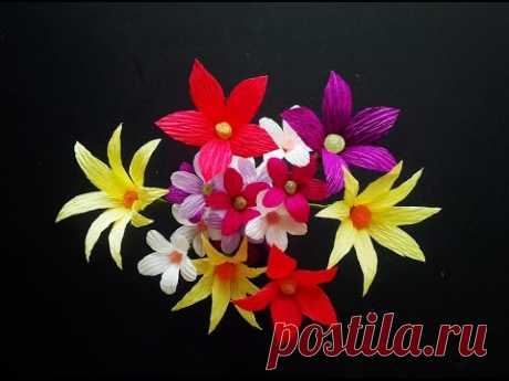 Easy Paper Flowers | Crepe Paper - Craft Tutorial