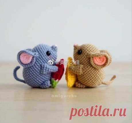 Китайские маленькие мышки крючком - перевод | Be Creative | Яндекс Дзен