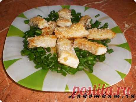 Рыбные палочки в кунжуте | Короткие рецепты | Яндекс Дзен
