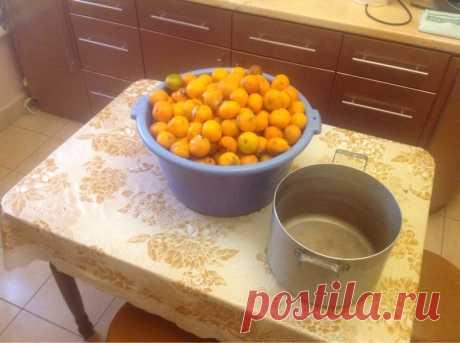 Cocemos el aguardiente casero de la mandarina