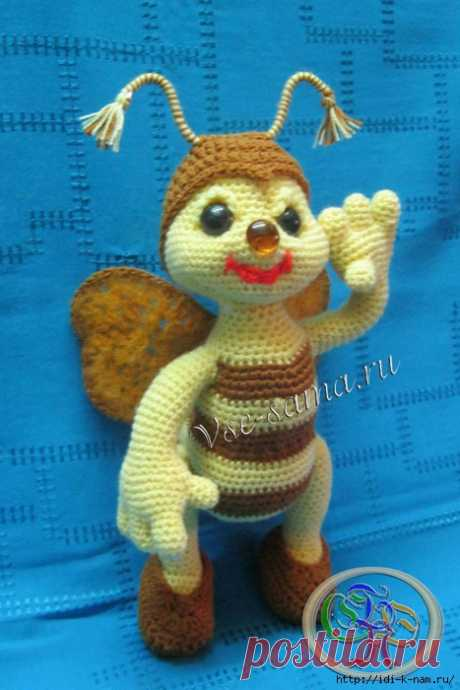 Вязаная пчёлка— Добрый Пчёл   Сияние Жизни