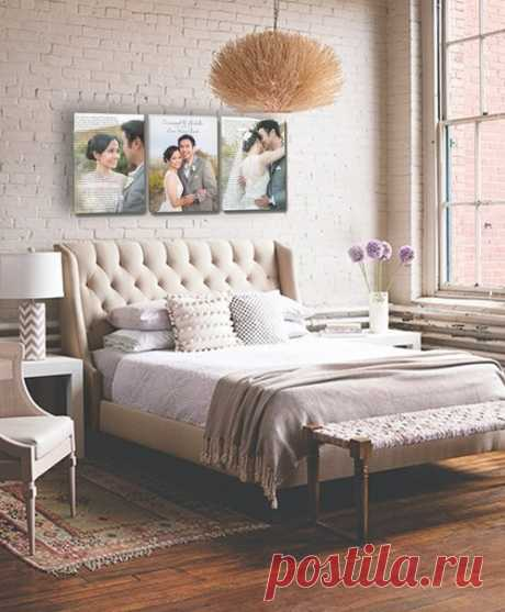 Ideas of registration of a headboard of a bed photos and pictures.